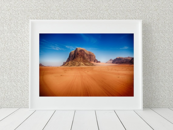 Wadi Rum Photo Print, Desert Wall Art, Middle Eastern Decor