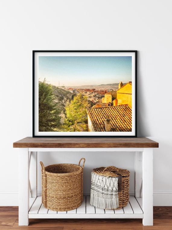 Spanish Countryside Photo Print, Cuenca, Spain, Farmhouse Decor