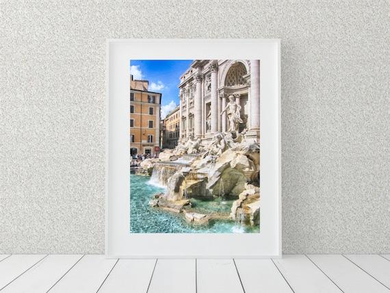 Trevi Fountain Photo Print, Italy Decor, Europe Wall Art