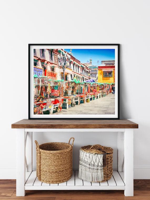 Barkhor Square Photo Print, Lhasa, Tibet, Asian Decor