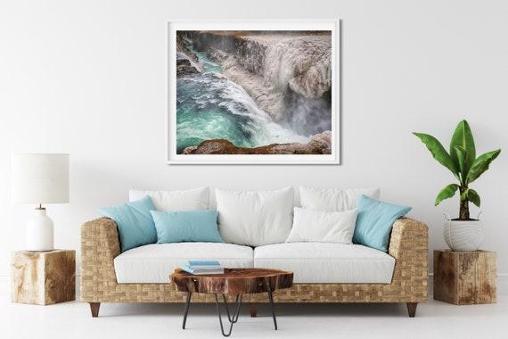 Gullfoss Waterfall Photo Print, Golden Circle, Iceland, Nature Decor