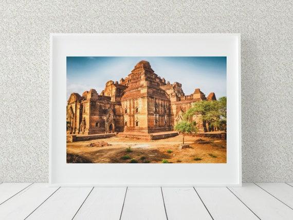 Buddhist Temple Photo Print, Myanmar Photography, Spiritual Print