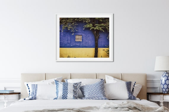 Blue And Yellow Window Photo Print, Philippines Print, South East Asia, Travel Art