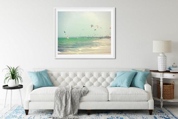 Kite Surf Photo Print, Paje Beach Zanzibar, Surf Poster, African Art