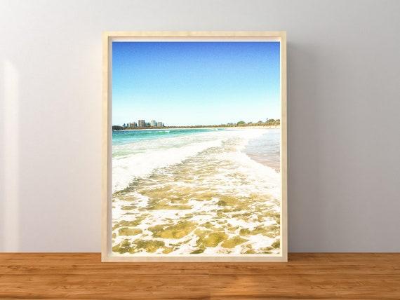 Pastel Beach Photo Print, Australia Print, Coastal Decor