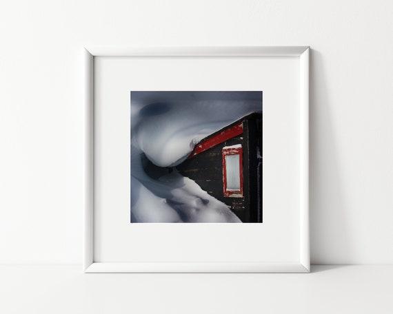 Winter Landscape, Square Photography Print, Greenland Photo Print