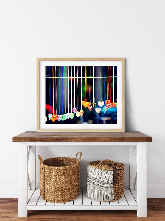 String Of Hearts Photo Print, Oaxaca, Mexico, Friendship Gifts