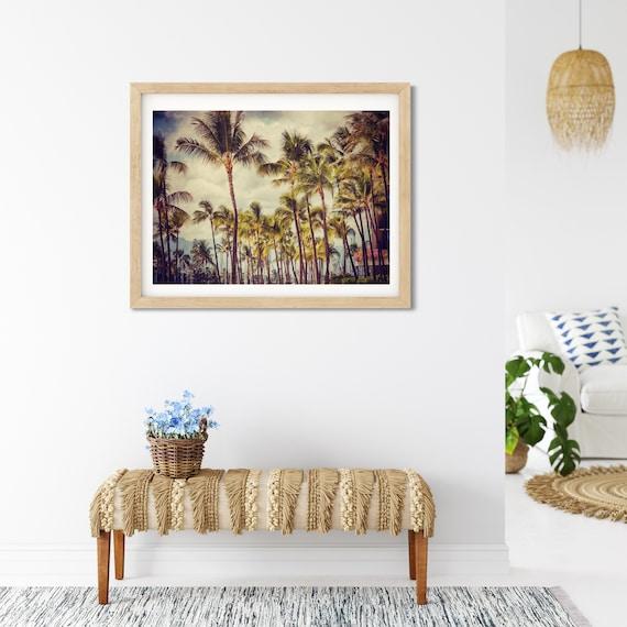 Palm Tree Photo Print, Hawaii Photography, Coastal Decor