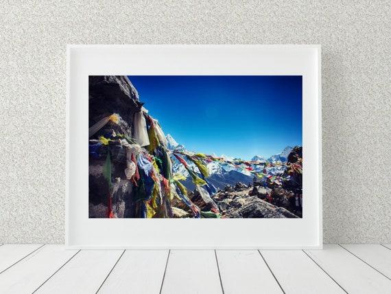 Mountain Landscape Photo Print, Nepal Photography, Nature Decor