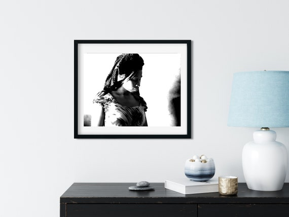 African Female Portrait Photo Print, Zanzibar, Tanzania, African Home Decor