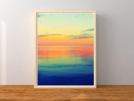 Abstract Sunset Photo Print, Nursery Decor, Colorful Wall Art