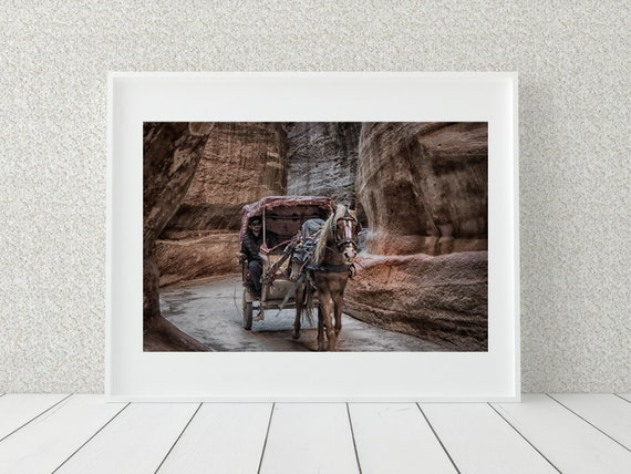 Horse And Cart Photo Print, Middle Eastern Photography, Horse Decor