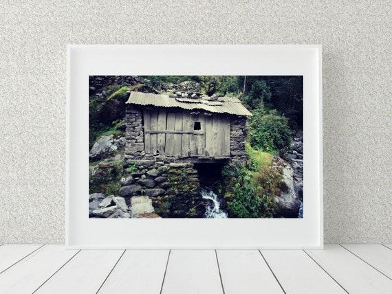 Himalayan Shed Photo Print, Mt Everest Base Camp Trek, Nepal Art, Farmhouse Decor