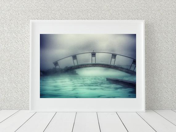 Blue Lagoon Photo Print, Iceland Photography, Pastel Decor