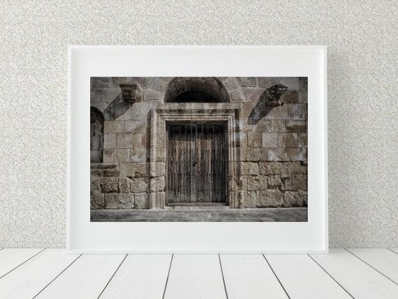Old Door Photo Print, Amman Jordan, Middle Eastern Decor, Architecture Print