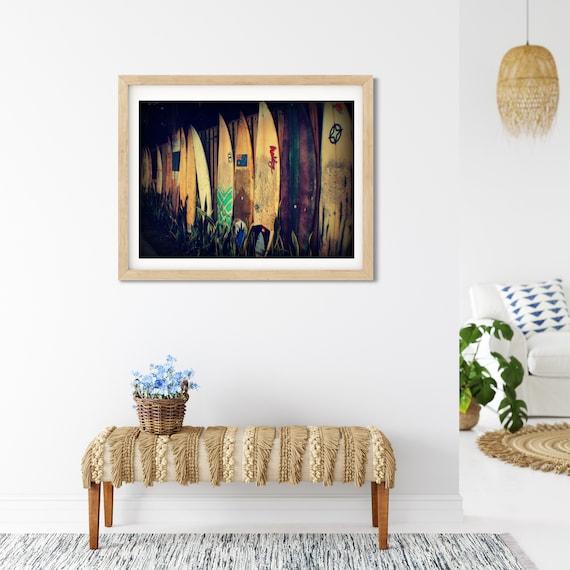 Australian Surfboard Photo Print, Surf Decor, Surfboard Wall Art, Surfing Gifts