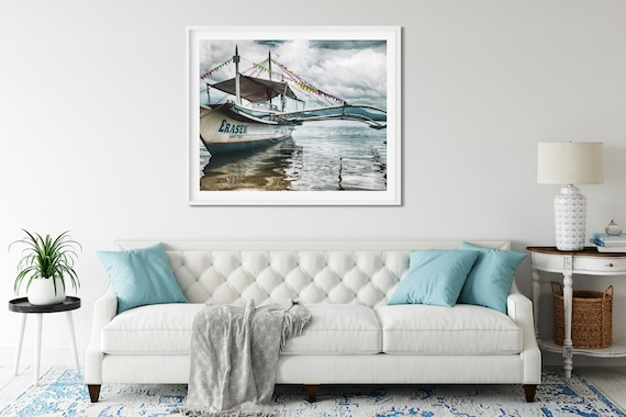 Filipino Fishing Boat Photo Print, Philippines Print, South East Asia, Travel Art