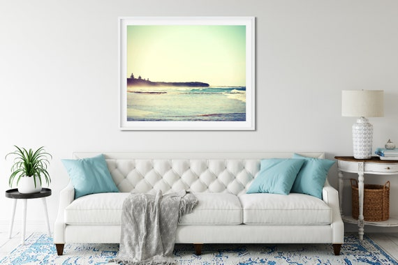 Retro Beach Print, Sunshine Coast, Queensland Australia, Beach Themed Decor