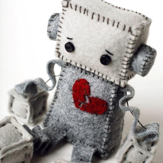 Anti Valentinstag Traurige Roboter Plusch Mit Einem Etsy