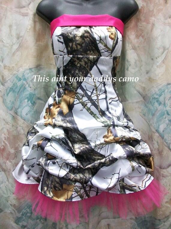 Custom Camo Prom Homecoming Pick Up Bubble Skirt Short Dress Etsy