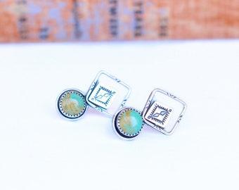 Kingman Turquoise Earrings // Made to Order