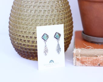 Kingman Turquoise Earrings // Sterling Silver // Made to Order