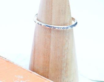 Cuff Bracelet // Stamped Cuff Bracelet // Sterling Silver
