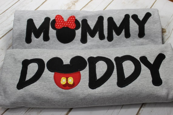 Micky Mouse Birthday Mommy And Daddy Shirts Birthday First