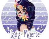 Lady Muerte digital file PNG instant download, sublimation, clip art