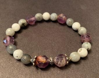 Super Seven Moonstone Labradorite bracelet