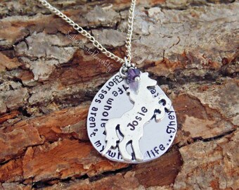 Horse Jewelry Necklace - Horses aren't my whole life they make my life whole - Equestrian - Horse back riding - Barrel Racing - Personalized