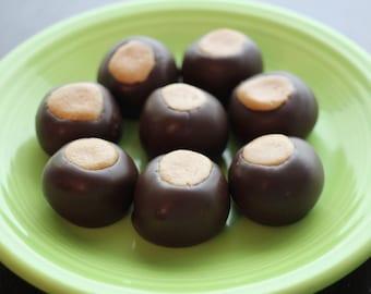 18 Dark Chocolate Better Buckeyes, Award Winning, One of a Kind Small Batch Gourmet Artisan Chocolates