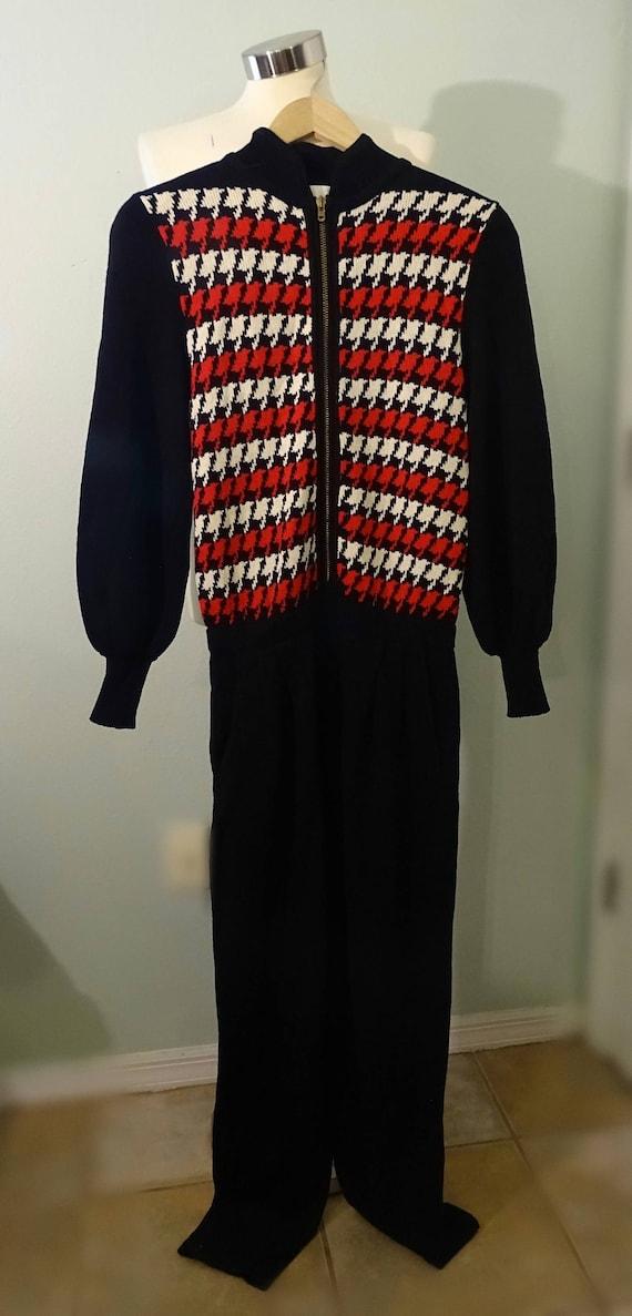 Vintage Lillie Rubin Red Sweater Jumpsuit ~ RARE … - image 3
