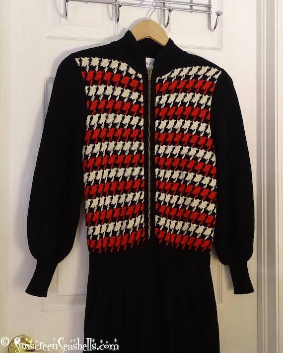 Vintage Lillie Rubin Red Sweater Jumpsuit ~ RARE … - image 4
