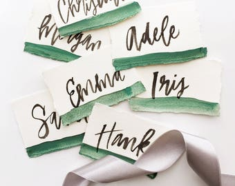 Paperfelt Calligraphy Place Cards