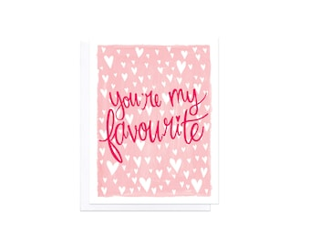 Love Card - You're My Favourite