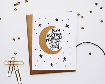 You Are My Moon and Stars - Card