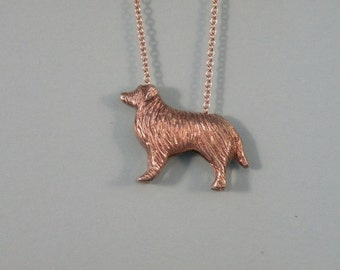 Sterling Silver Collie Pendant