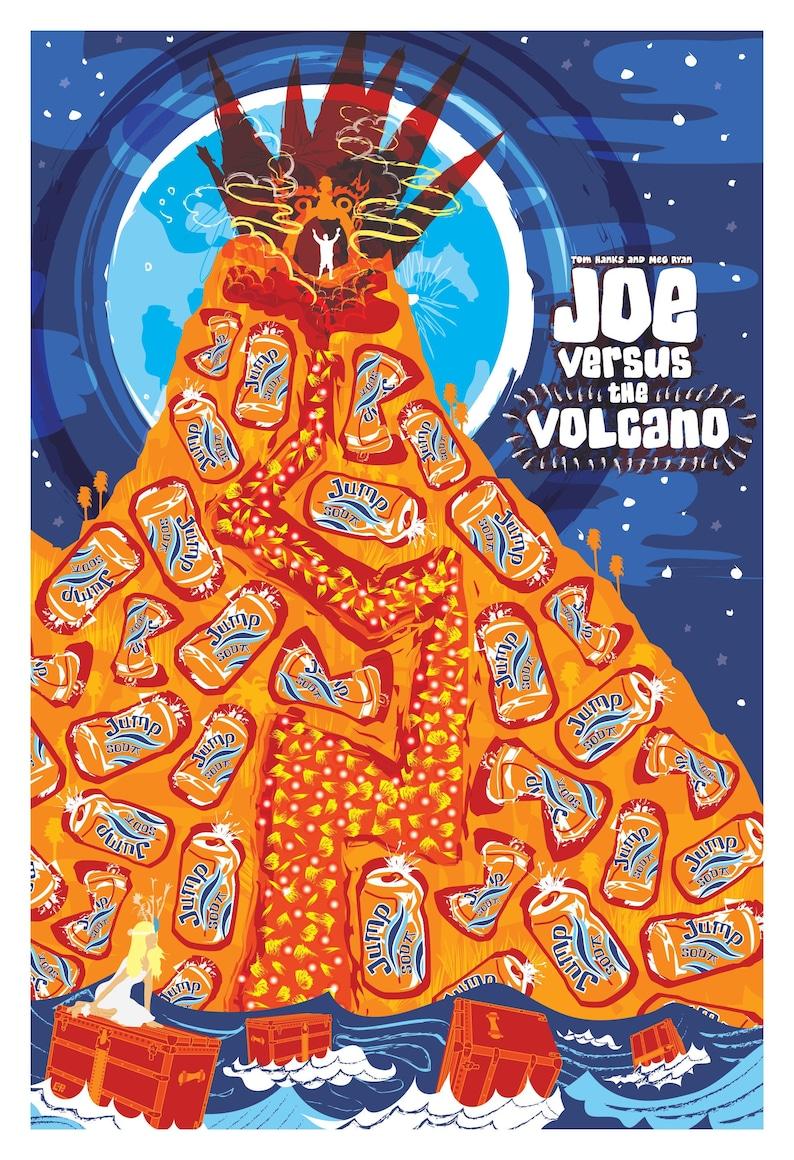Joe Versus The Volcano 1990 Inspired Movie Poster image 0
