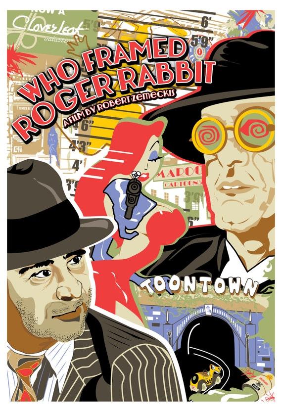 Who Framed Roger Rabbit 1988 Inspired Original Movie Poster Etsy