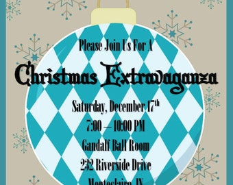 Christmas Extravaganza   Ornament Swap   Party   Christmas Invitation   Ornament Exchange   Office Party   Customize Wording   Invitation
