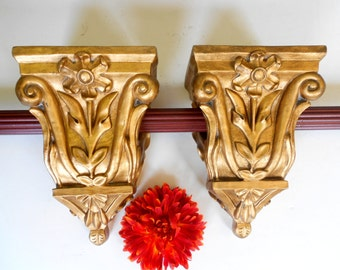 Curtain Rod Brackets Carved Corbels Drapery Scarf Swags Sconces For End Finials Swag Holders