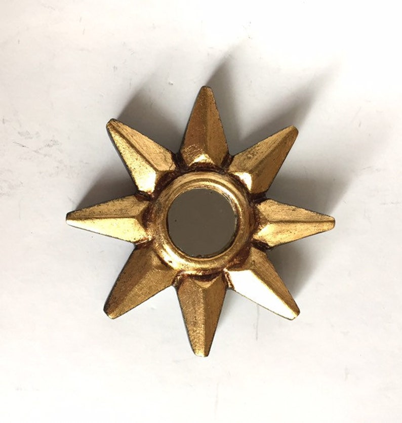 c975d2dc02ec Small Gold Starburst Mirror Star MirrorSunburst MirrorRound