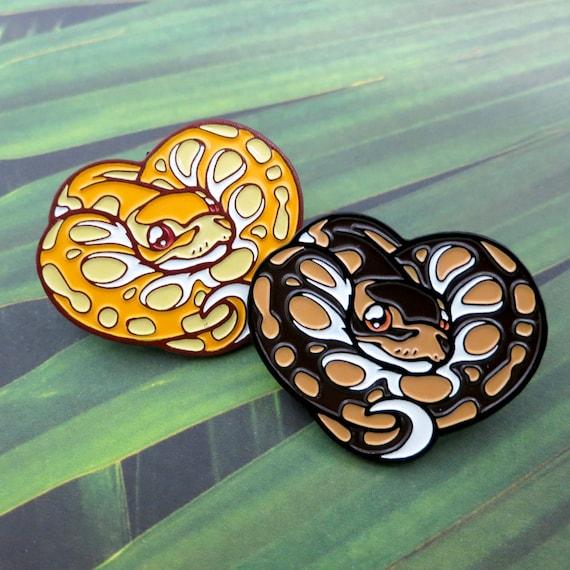 ball python enamel pin cute snoots etsy