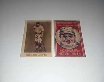 Babe Ruth 1921 Scapira Brothers /& 1932 Abdulla Tobacco Reprint Cards