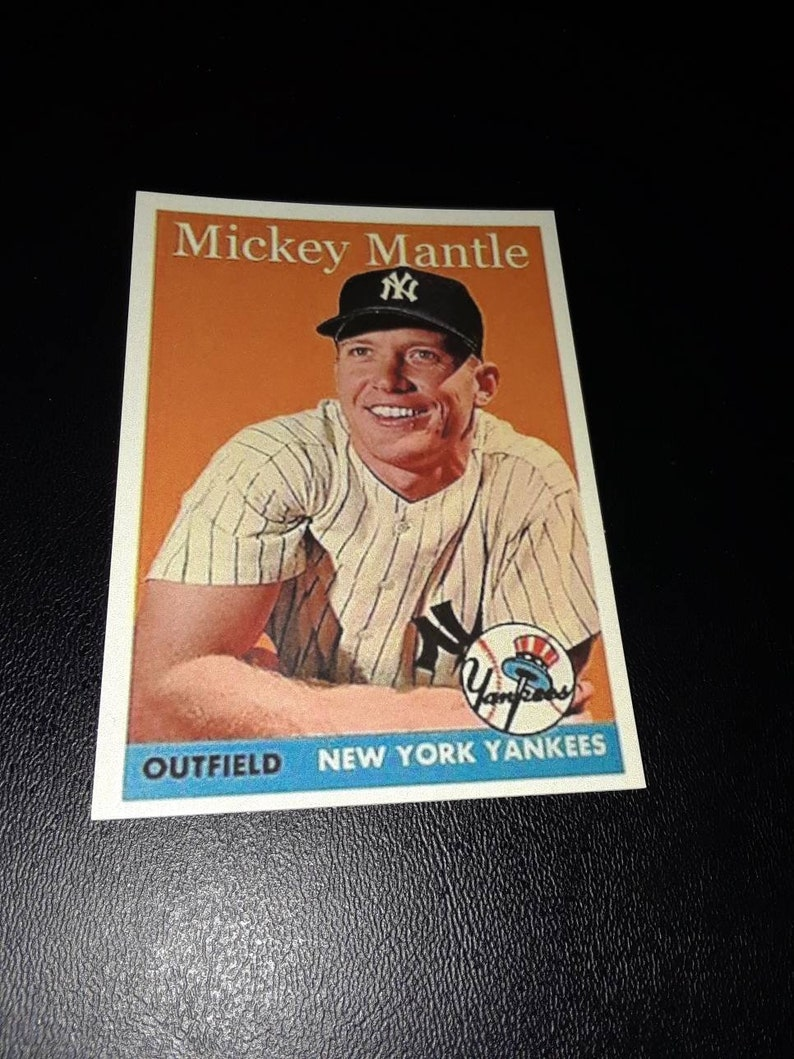 Mickey Mantle 1958 Topps Style Oddball Card