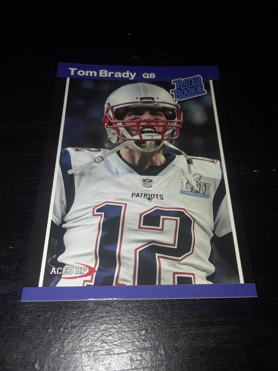 Tom Brady Aceo Reprint Rookie Card