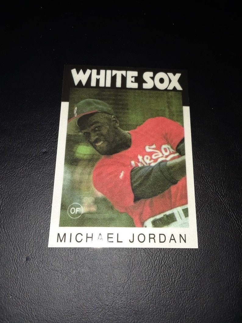Rare Michael Jordan 1986 Topps Style Aceo Baseball Rookie Card