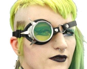 DSF Claw Spiked Mono Goggle - Metal Cyber Monocle - Cybergoth Cyber Goth Cyberpunk Punk Spikes Steampunk Headgear Modular tallon fang 5422