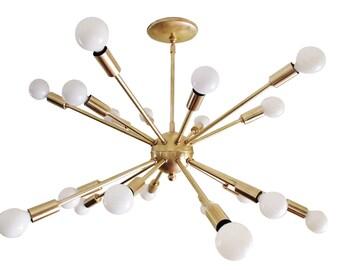 Atomic 20 Arm Sputnik Starburst Ceiling Light Mid Century UL Listed